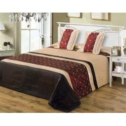 Brązowa Narzuta na łóżko Toledo
