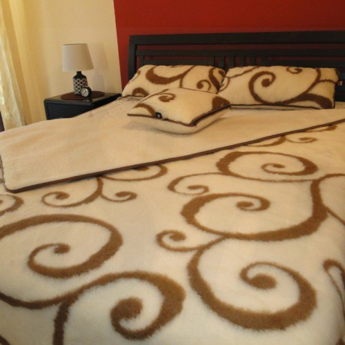 Kołdra wełniana Merynos + poduszka